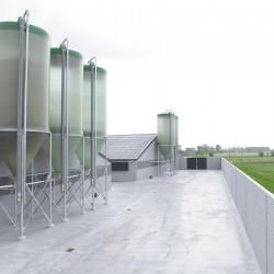 stallenbouw varkens met luchtwasser